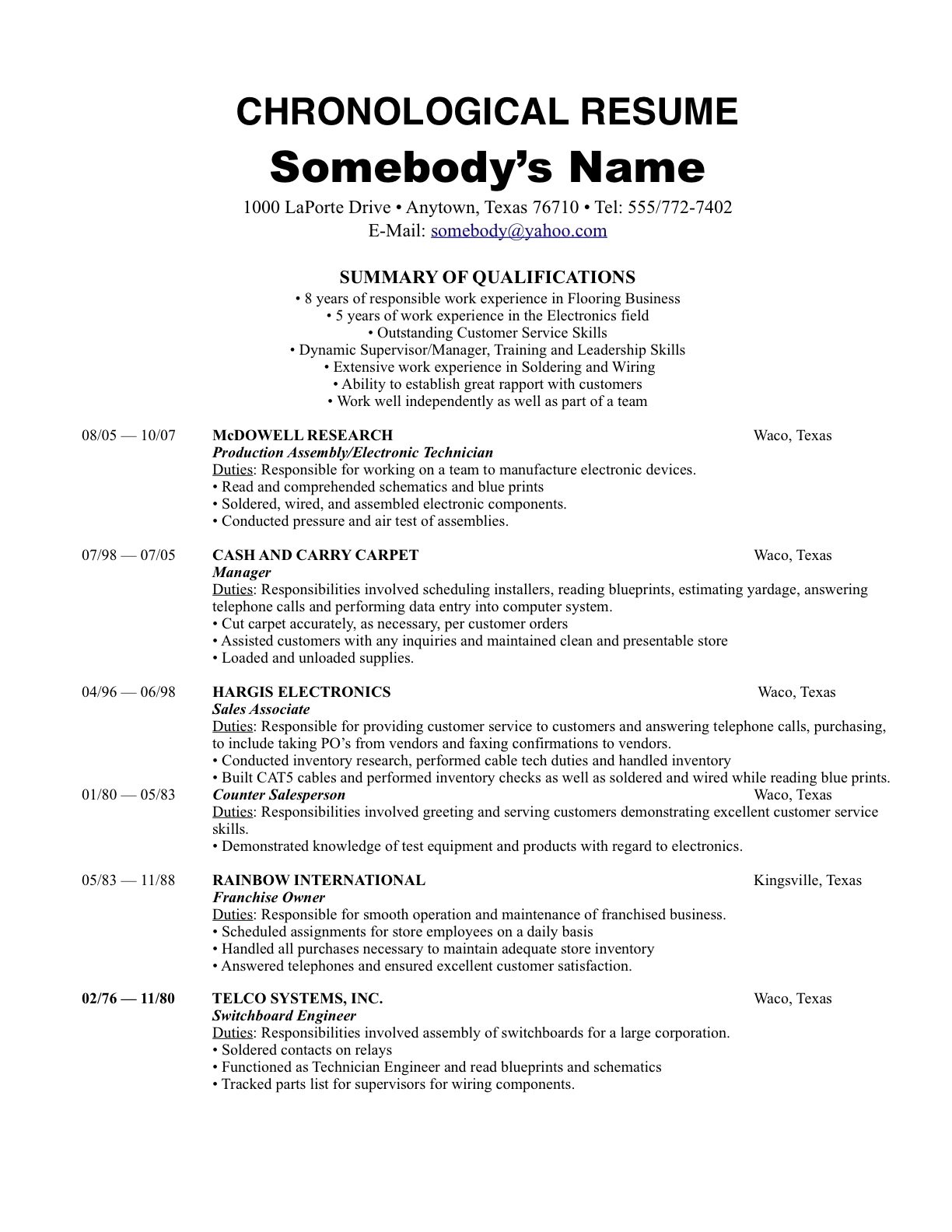 not many know this  there are 3 resume formats