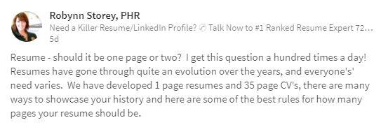 pakar resume ni bagitahu jumlah muka surat sebenar yang
