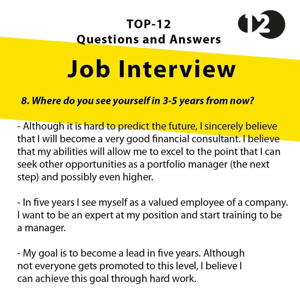 hafal je jawapan untuk 9 soalan interview ini kalau dah malas where do you see yourself in 3 5 years from now